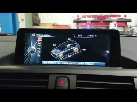 How to reset tyre pressure - New BMW 1 series 2014 to 2016