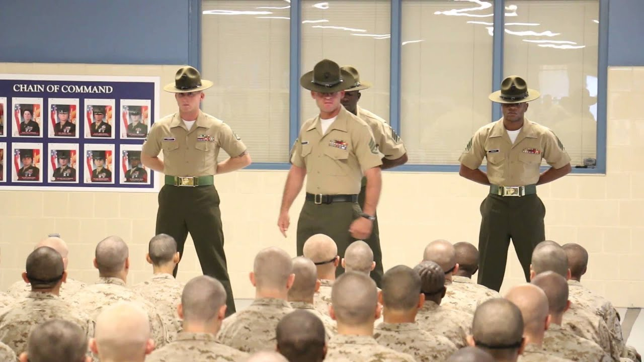 drill Marine corps boot instructors camp
