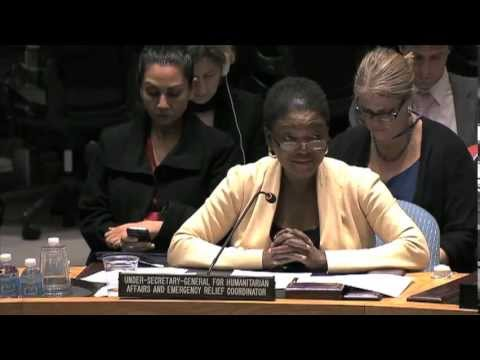 UN Humanitarian Chief Valerie Amos briefs the Security Council on Syria