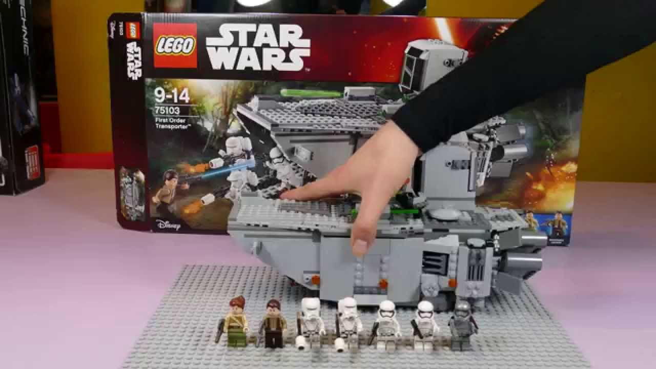 Lego Star Wars 75103 First Order Transporter Hd Quality Youtube