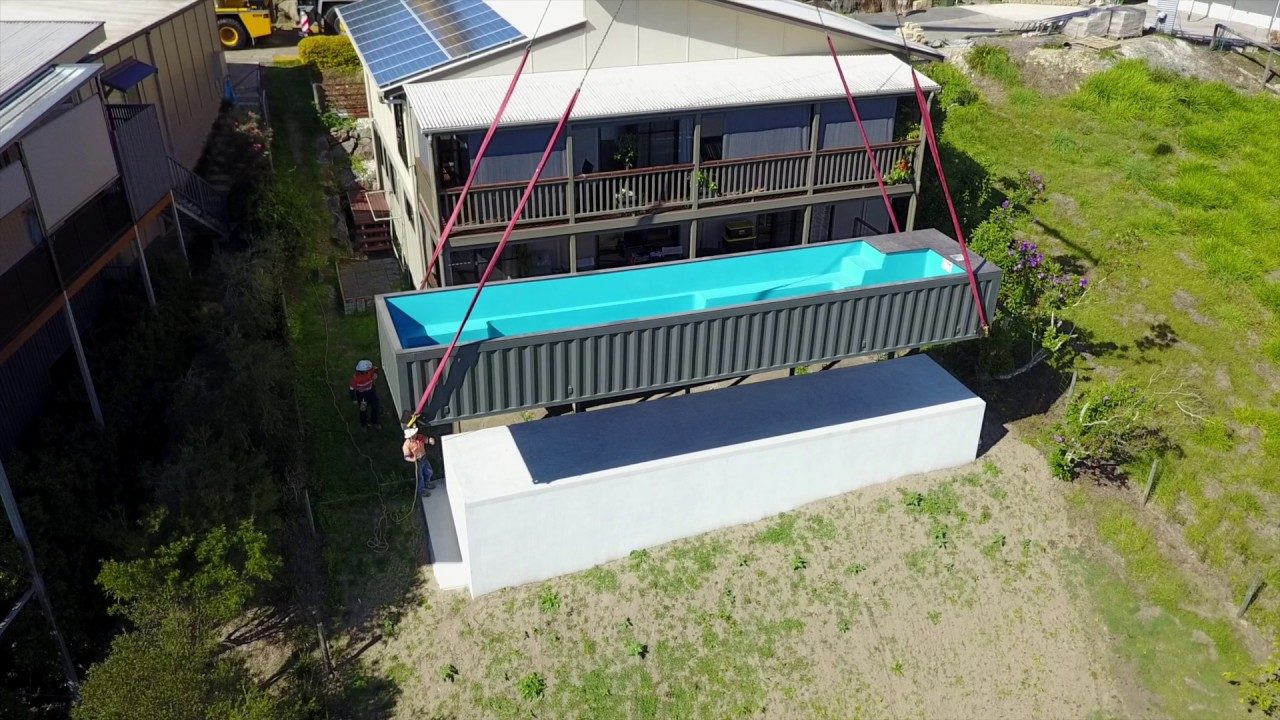 Best Kitchen Gallery: Shipping Container Pool Lift Youtube of Shipping Container Pool on rachelxblog.com