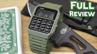 "Green Casio Calculator Watch (CA53WF-3B) ""Data Bank"" - Full Review"