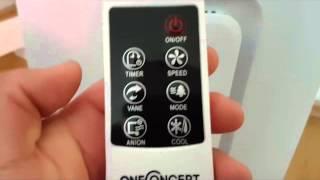 oneConcept Baltic Red mobile Klimaanlage Luftkühler