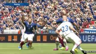 UEFA Euro 2016   France vs Iceland  PES 2016 Game
