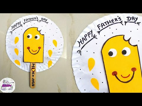 DIY Best Out Of waste paper plate craft | Easy paper plate craft for kids|Father's day Greeting Card