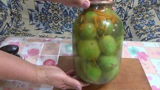 Зелёные помидоры с начинкой на зиму.