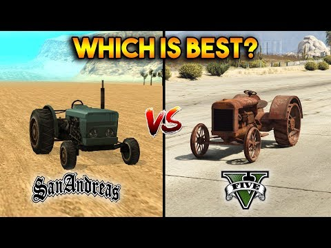 GTA 5 TRACTOR VS GTA SAN ANDREAS TRACTOR : WHICH IS BEST?