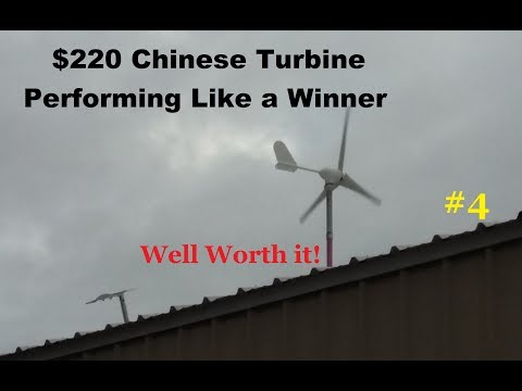 Success, $220 Chinese 500 Watt Wind Turbine installed performs perfect vid#4