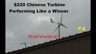 Success, $220 Chinese 500 Watt Wind Turbine installed performs perfect vid#4 Worlds best