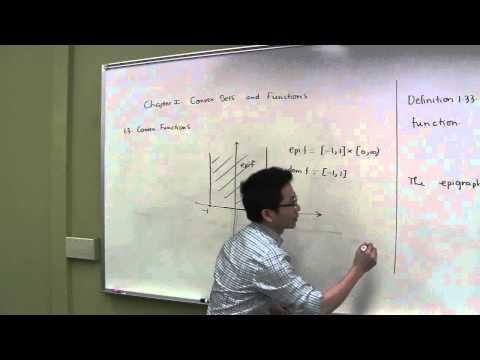 Convex Functions - Pt 1