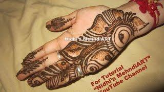 beautiful shaded arabic front hand henna mehndi design tutorial