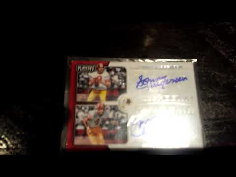 PANINI sonny jurgensen and charley taylor  Sighned looking for buyers