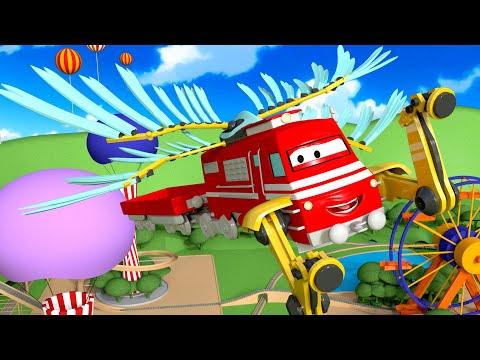 Troy o Trem - O Trem Aéreo - Cidade do Trem 🚄 Cidade do Carro - Desenhos Animados para Crianças 🚄