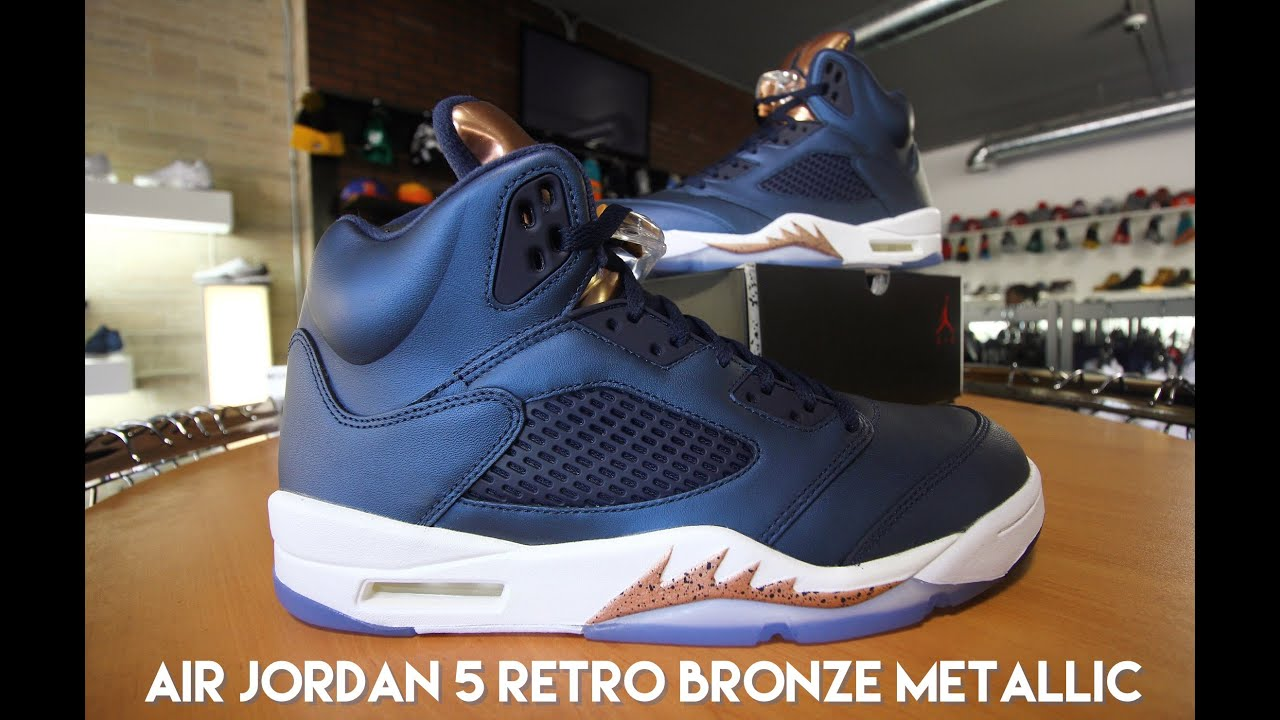 f5668f74320 AIR JORDAN 5 BRONZE - YouTube