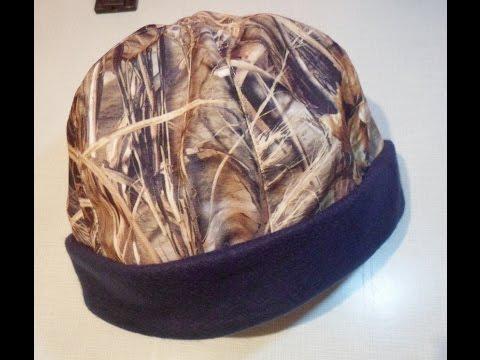 Сшить теплую мужскую шапку.