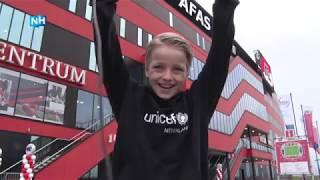 Jordi (10) was voor één dag de baas bij AZ