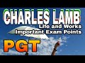 Charles Lamb Life And works with important exam points up pgt English
