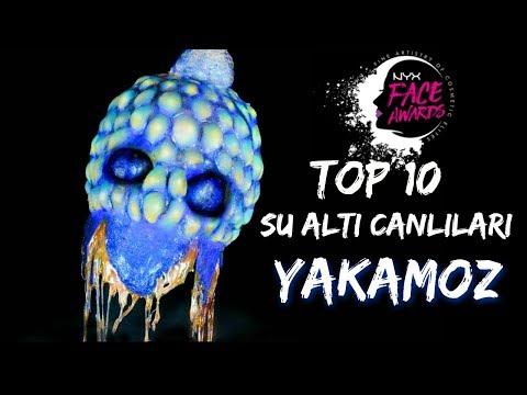 NYX COSMETİCS FACE AWARDS 2017 TOP 10 / UNDERWATER CREATURES / YAKAMOZ