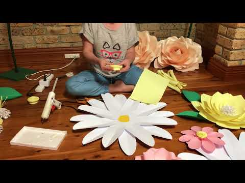 DAISY paper flower tutorial_how to make a paper flower_easy to make DIY paper flower