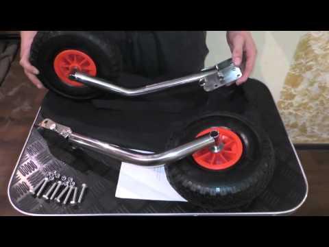 видео установка транцевых колес