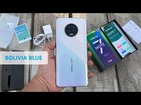 infinix NOTE 7 UNBOXING in BOLIVIA BLUE COLOR