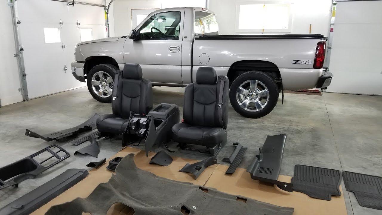 New OEM Carpet Install - Cleanest Silverado Interior Ever? (4 8 5 Speed  Truck)