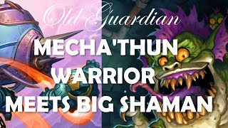 Mecha'thun Warrior meets Big Shaman (Hearthstone Rise of Shadows gameplay)