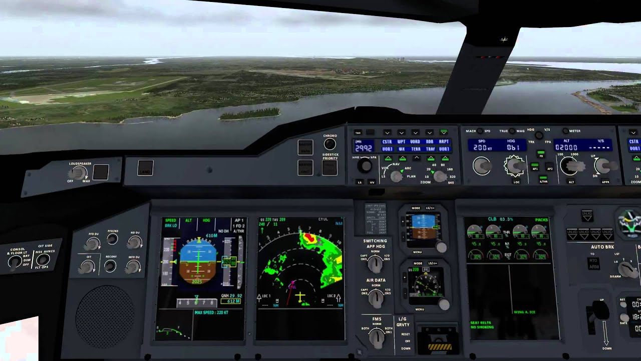 X-Plane 10 with A380 Landing