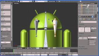 Blender Introduction to Rigging - Adding an Armature to a Google Android (New Version)