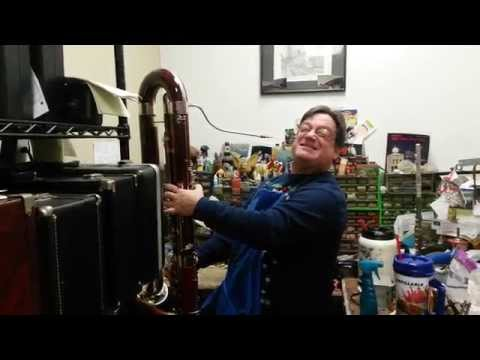 Craig at Amajor Music playing the Contrabass Bassoon