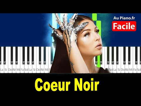 Eva Coeur Noir – Piano Facile Tutorial Paroles (AuPiano.Fr)