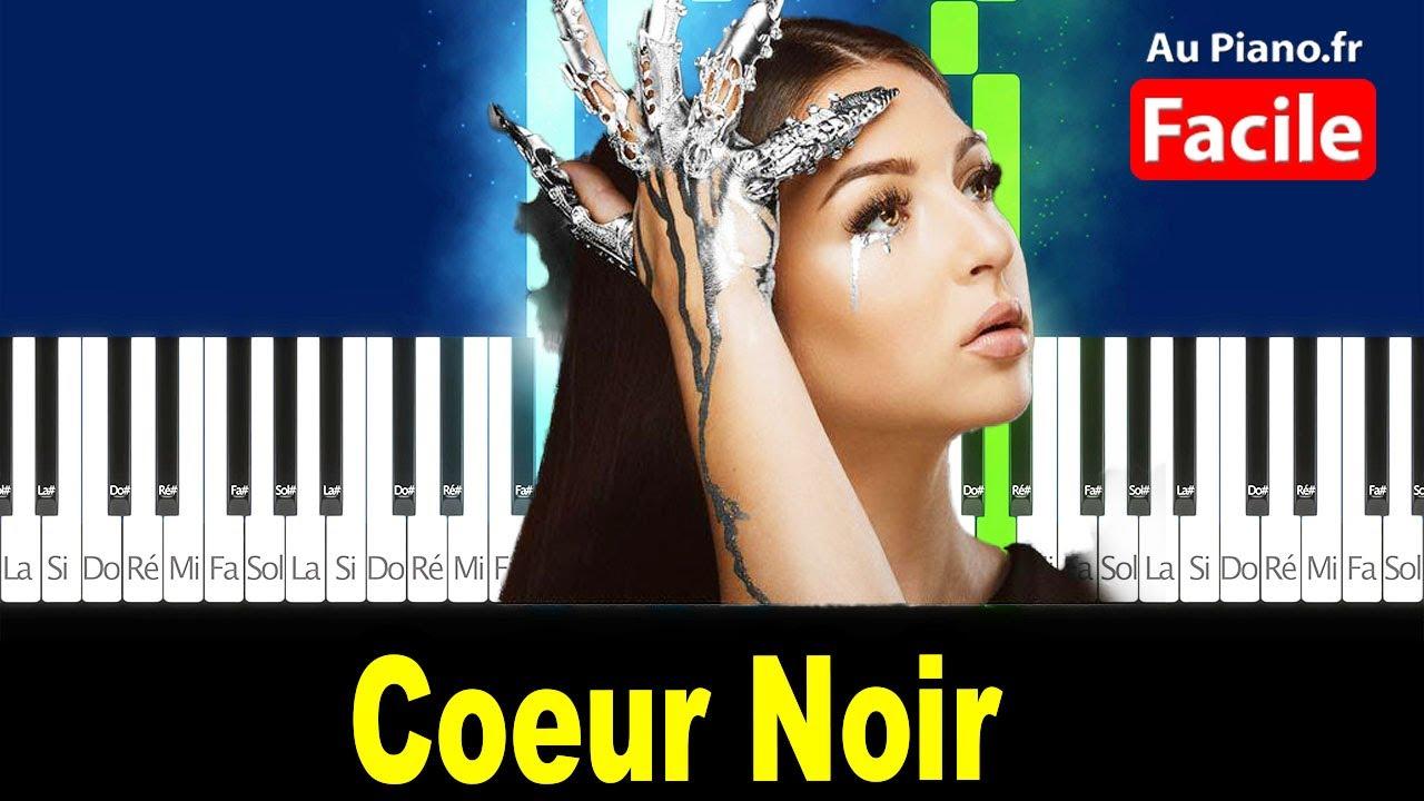 Download Eva Coeur Noir - Piano Facile Tutorial Paroles (AuPiano.Fr)