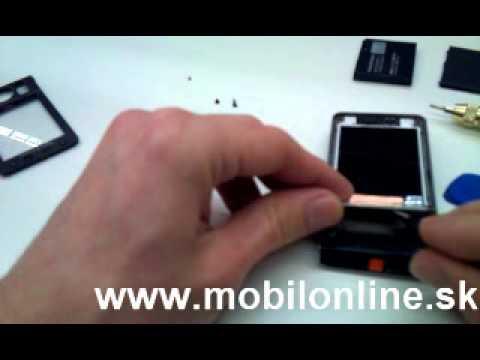 Výmena: LCD displej Sony Ericsson W910i, How to change Sony Ericsson W910i LCD