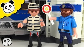 ⭕ PLAYMOBIL POLIZEI 🚨 Polizei Kommandostation 🚔 Spielzeug ausgepackt&angespielt - Pandido TV