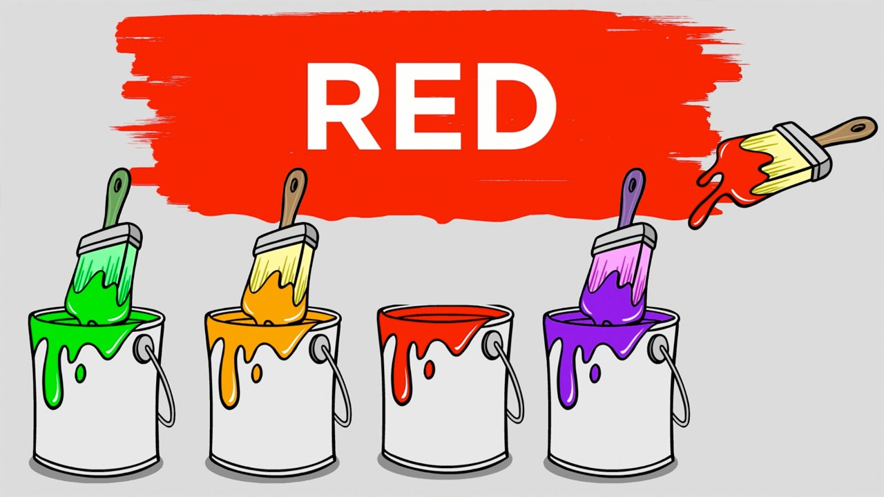 Learn Colors Paint cans, Teach Colours, Baby Toddler ...