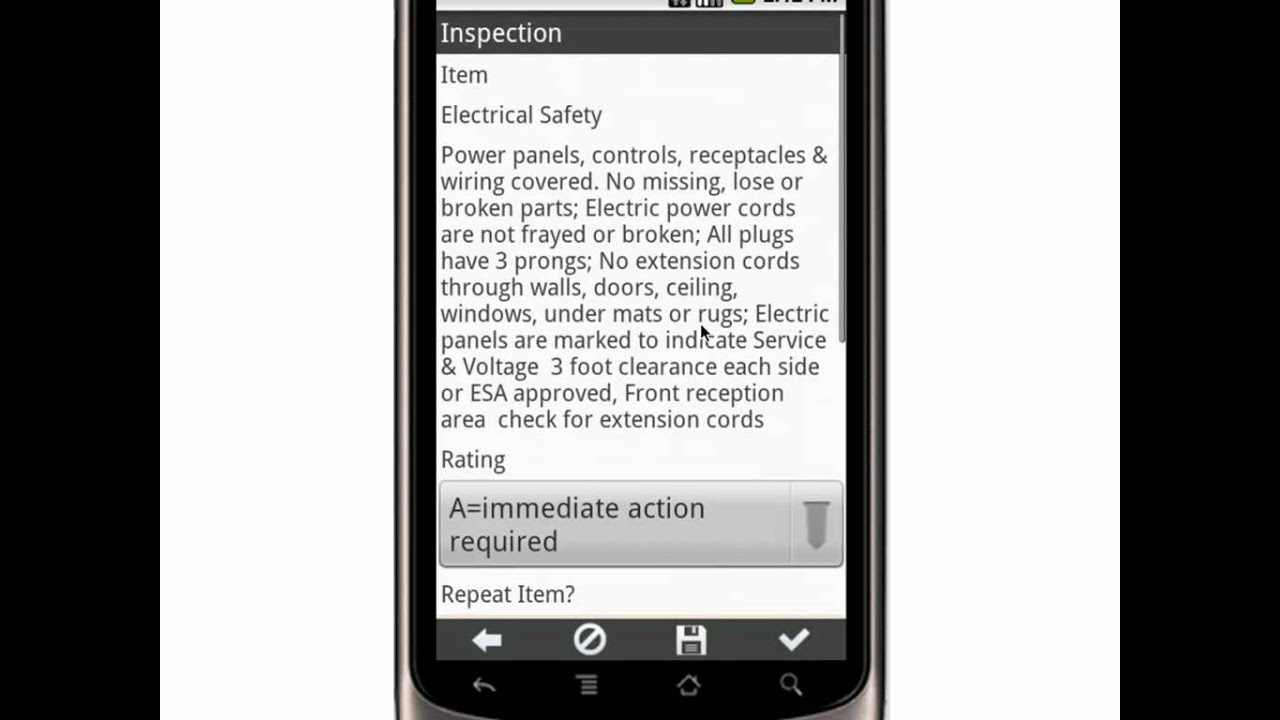 Canvas Monthly Workplace Hazard Safety Inspection Checklist - Mobile App mp4