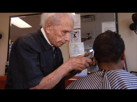 Brady - 107 Year Old Barber, Still Cutting Hair
