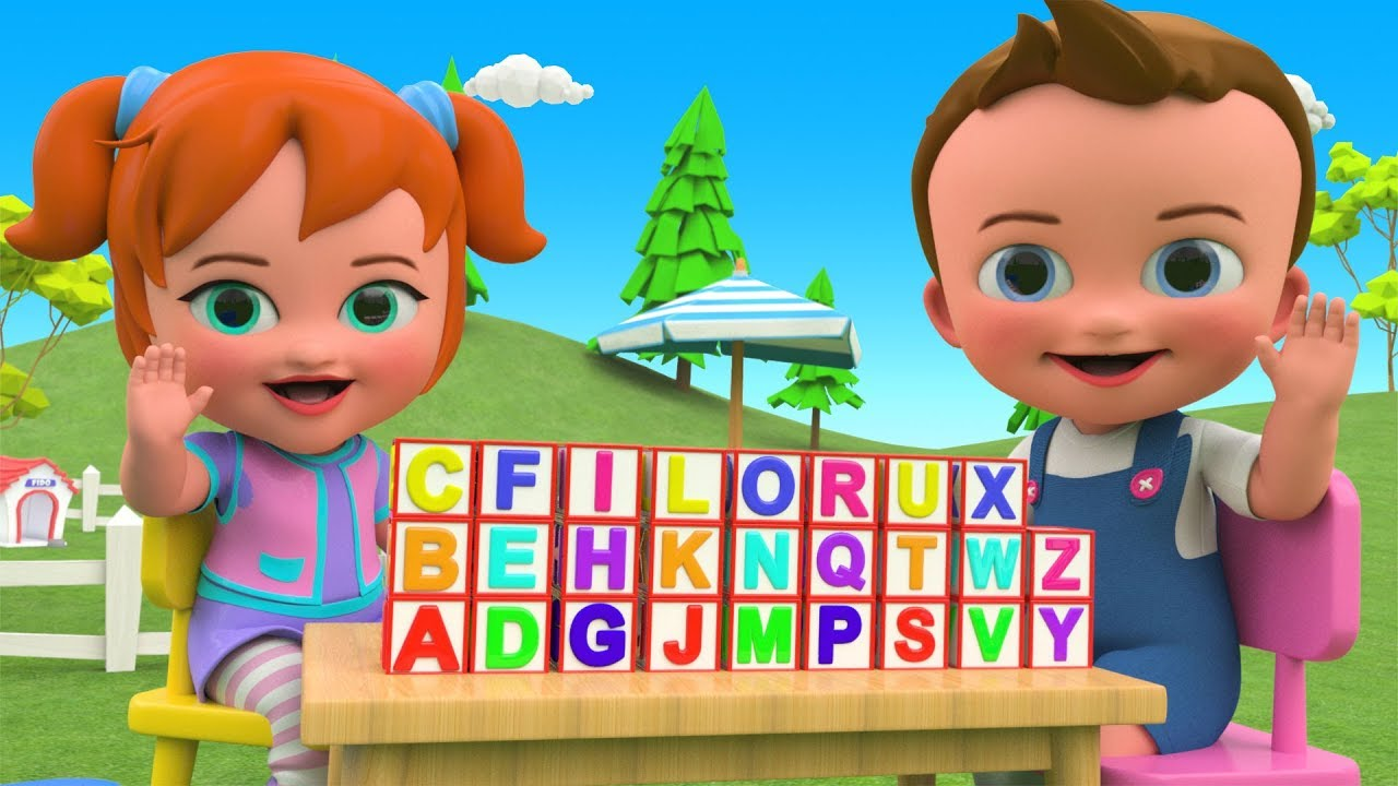 Learning Alphabets ABC Blocks Wooden Toy Set 3D Kids ...