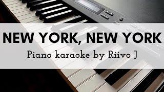 Frank Sinatra - New York, New York (Piano Karaoke Instrumental)