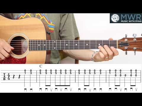 Easy Bluegrass and Ragtime in C - Beginner Flatpicking Lesson - Music With  Ryan