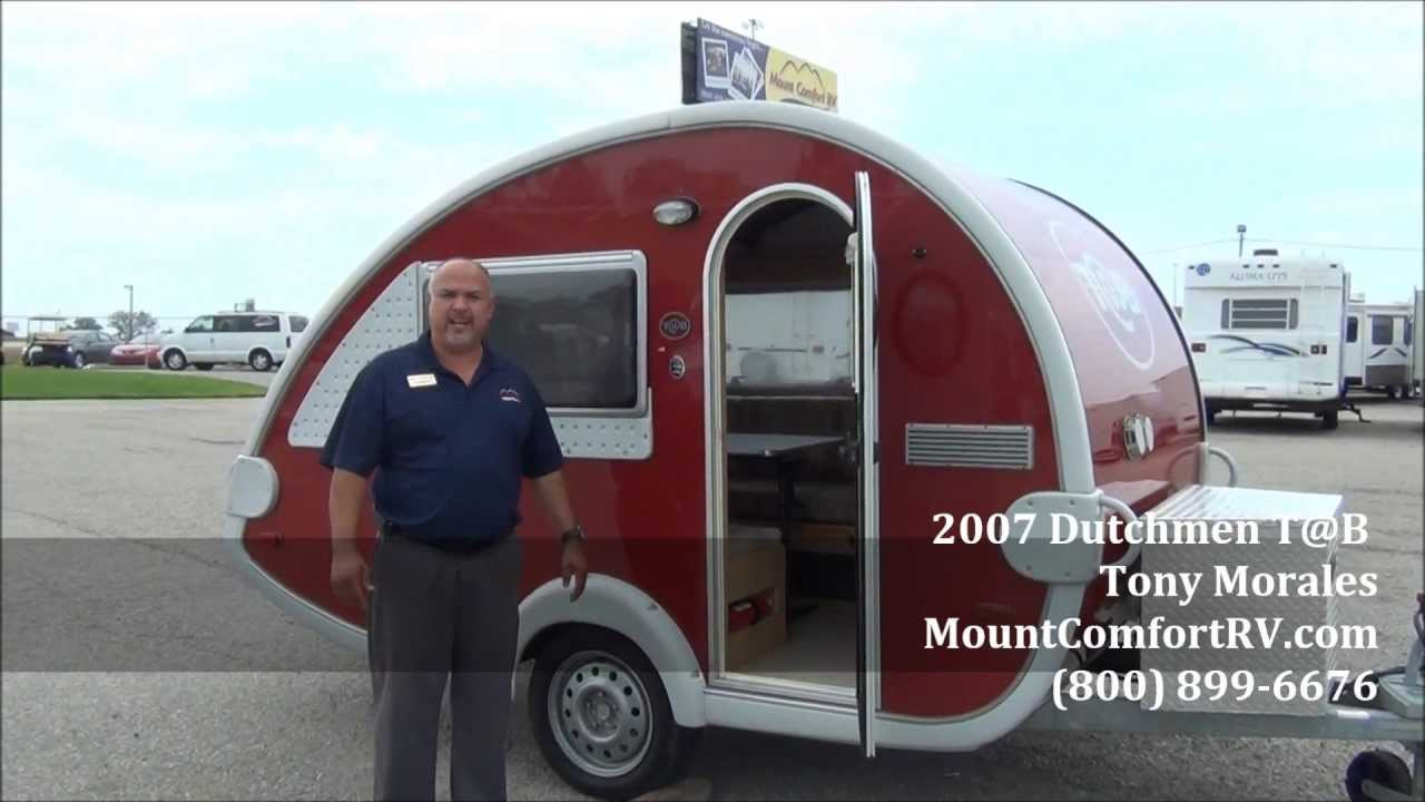 SOLD Used Tear Drop Travel Trailer 2007 Dutchmen Tab YouTube
