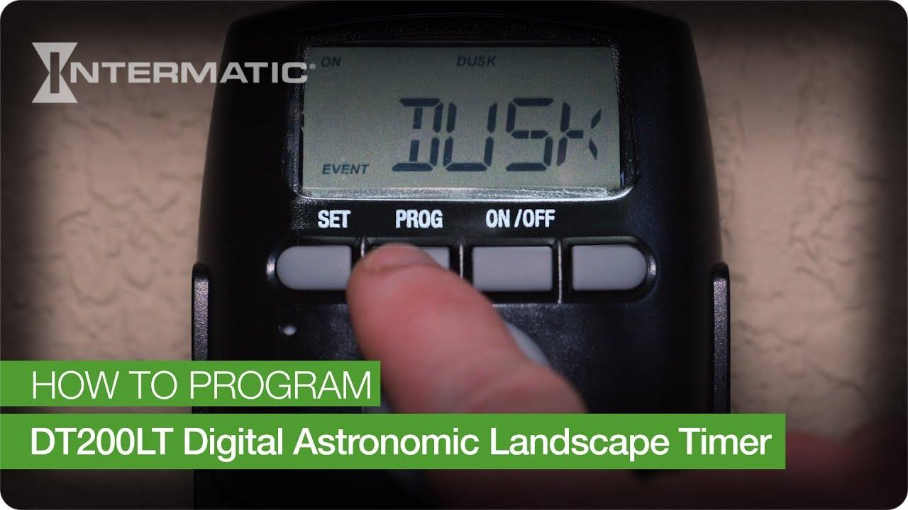 how to program the intermatic dt200lt digital astronomic landscape timer [ 1280 x 720 Pixel ]