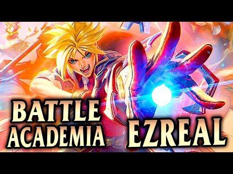 EZREAL CAN GO SUPER SAIYAN?! New Battle Academia Ezreal ADC - League of Legends S9