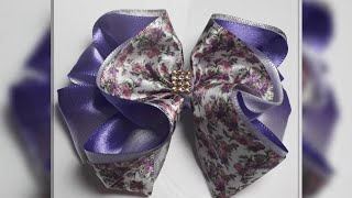 Como fazer esse lindo laço florido encantado – How to make a ribbon bow