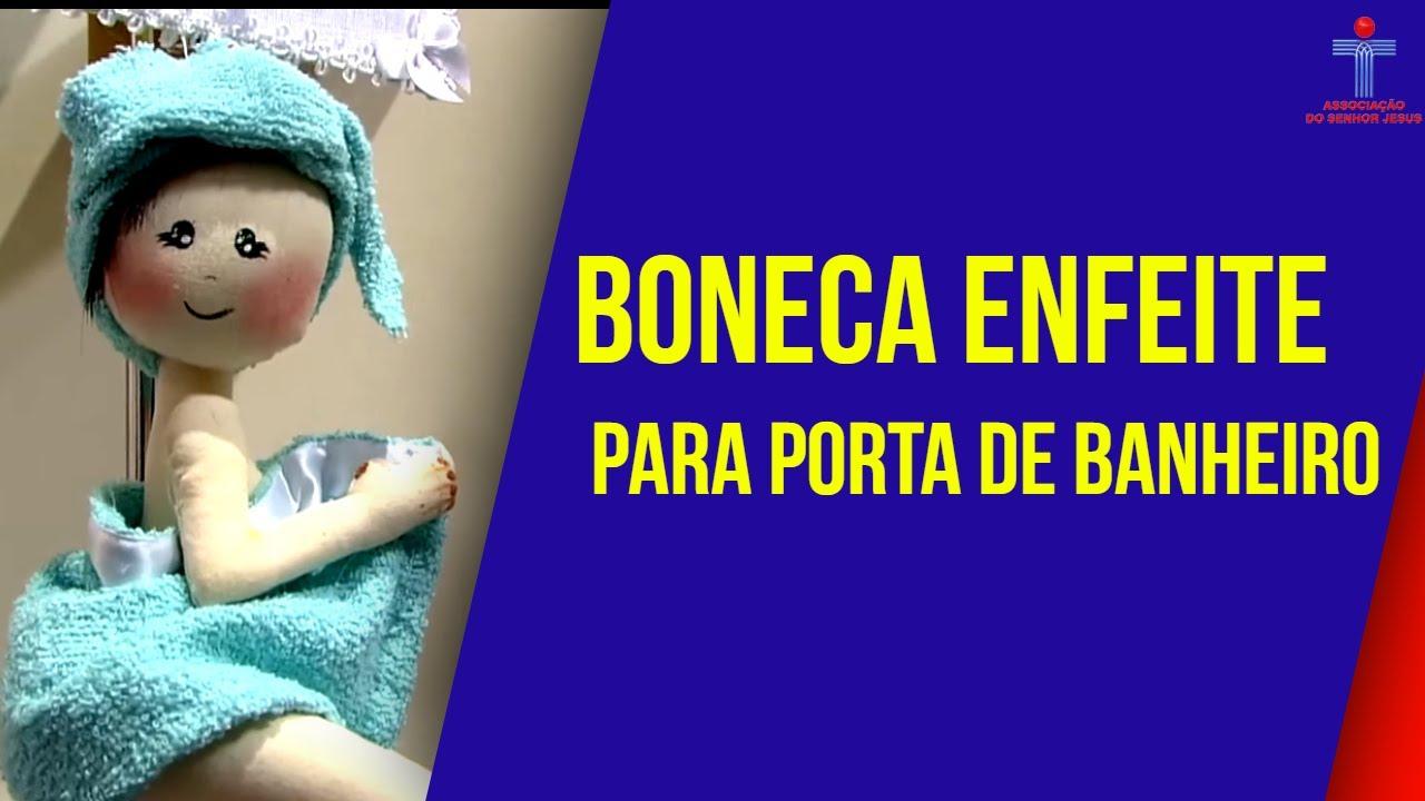 Mulhercom  22042016  Boneca enfeite para porta de banheiro  Luciane Val # Como Fazer Pia De Banheiro De Boneca