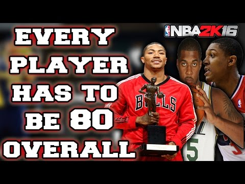EVERY PLAYER HAS TO BE ABOVE 80 OVERALL!!! NBA 2K16 MY LEAGUE CHALLENGE!!!