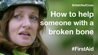 Helping someone who has broken a bone #FirstAid #ThePowerOfKindness