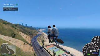 GTA 5 - Cưỡi chổi thần trong Harry Potter chạy xe ôm dạo trong thành phố | ND Gaming