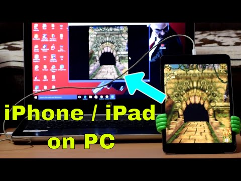 How to Mirror your iPhone , ipad Screen on PC / Laptop !! No Jailbreak !! iOS  , iOS , iOS