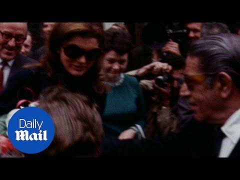Jackie Kennedy and Aristotle Onassis visit Belfast in 1970 - Daily Mail